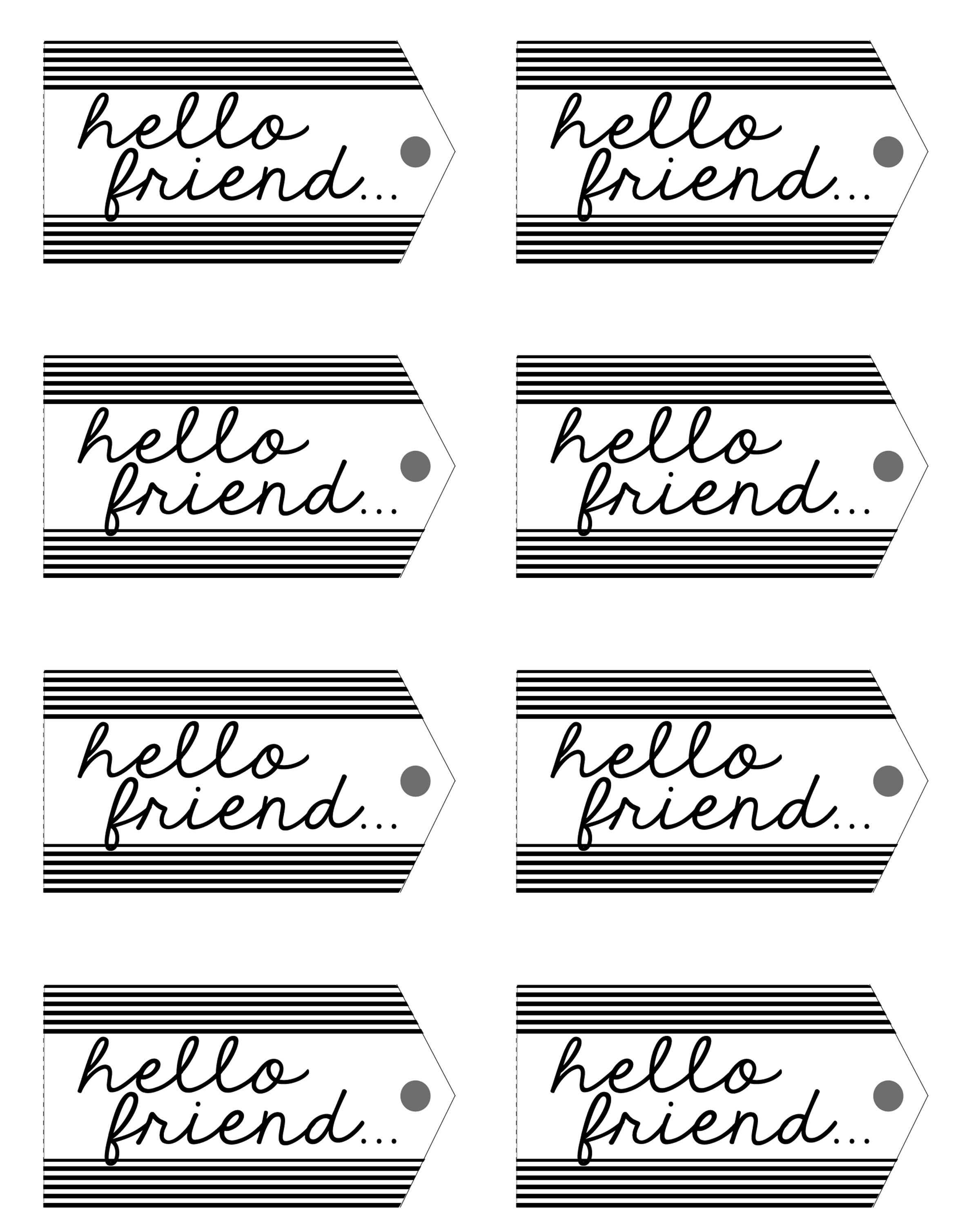 Hello Friend Tags