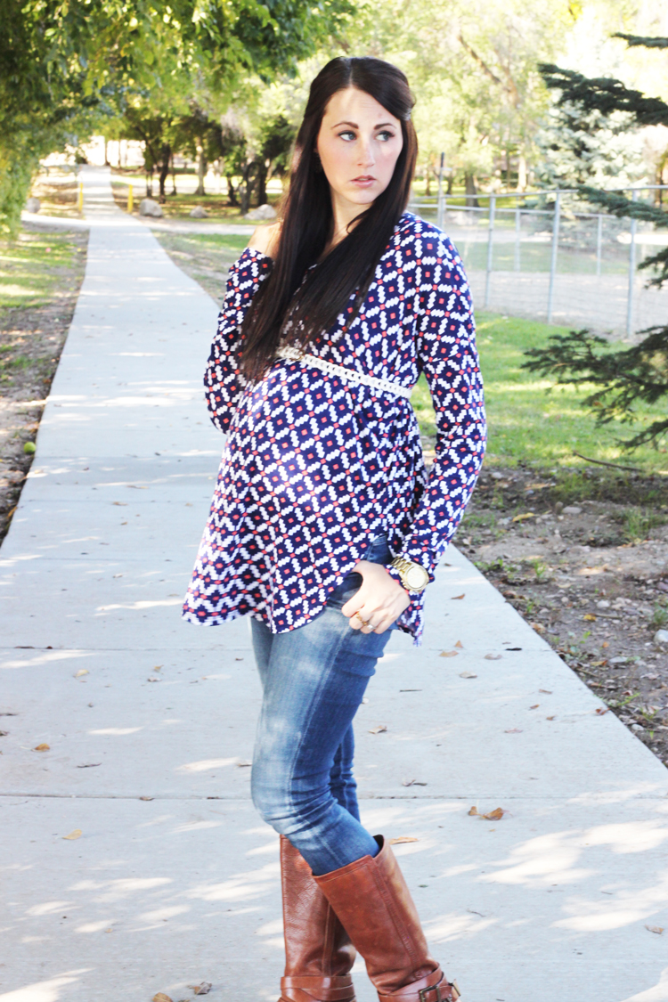 Patterned-Maternity-Top-1