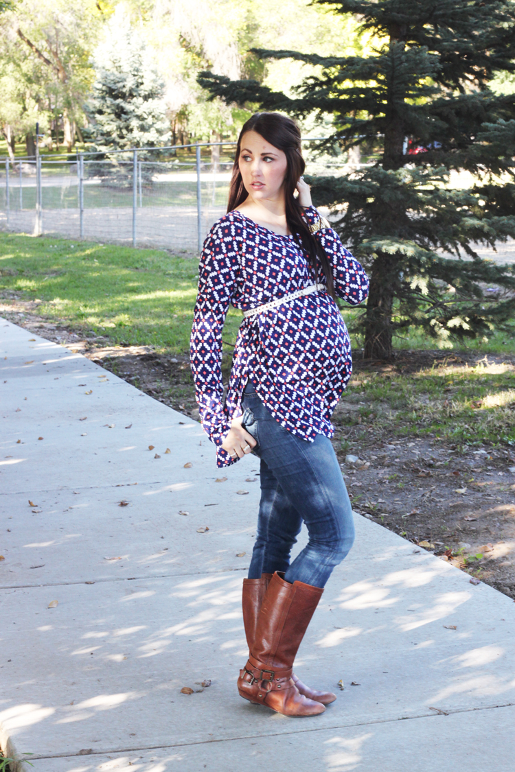 Patterned-Maternity-Top-2